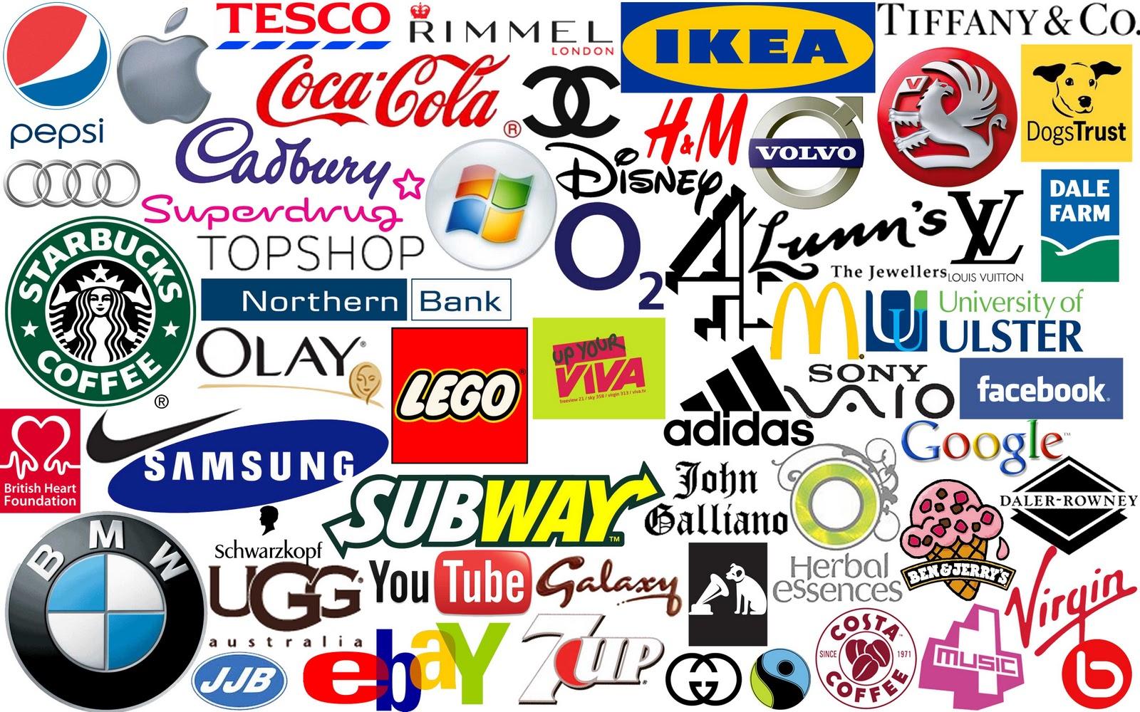Мировые логотипы и бренды в картинках