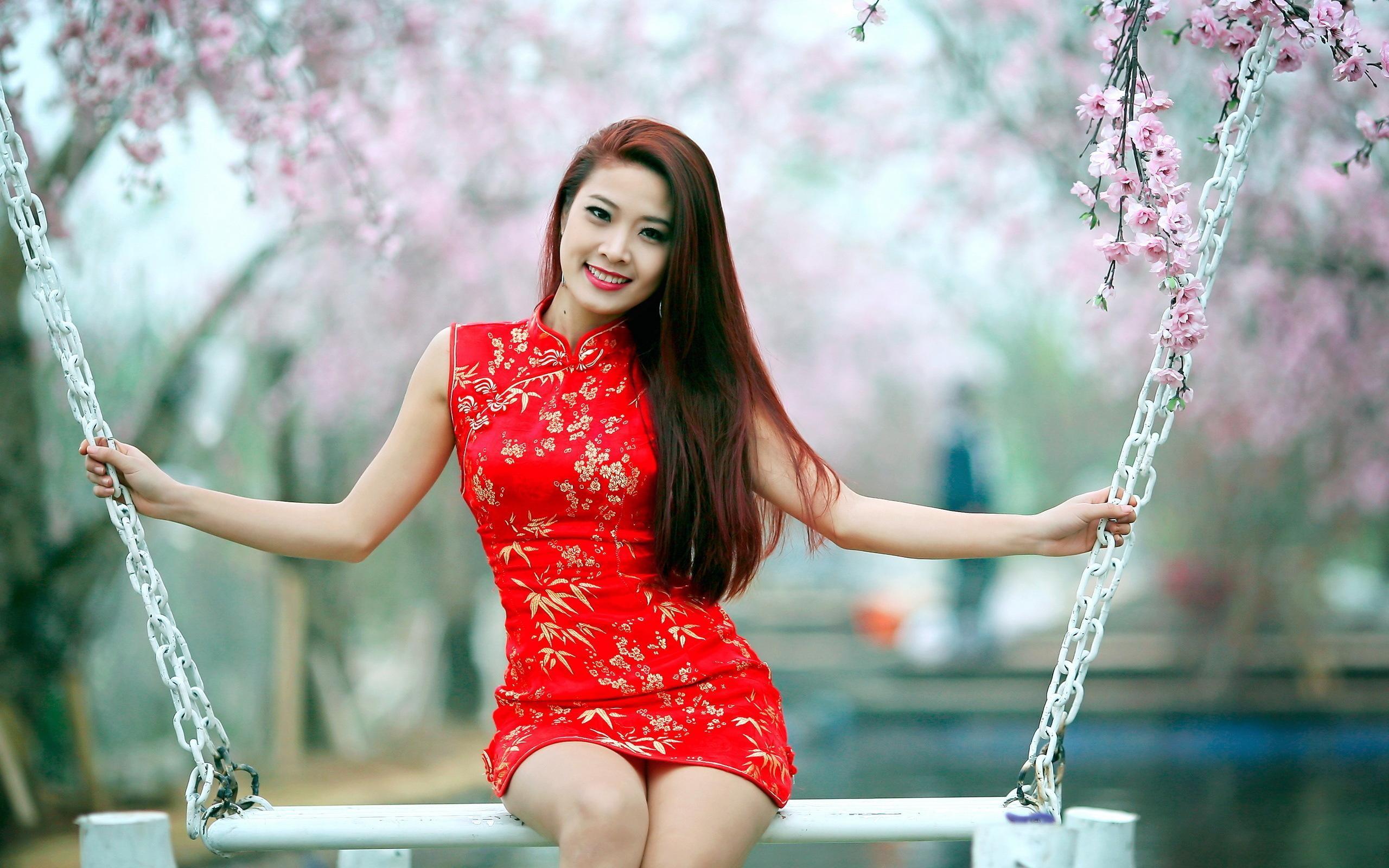 фото очень красивых азиаток в платьях видов окрасов шерсти